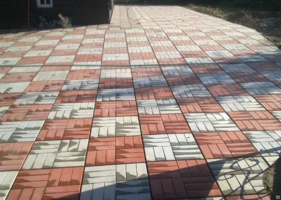 Тротуарная плитка 12 кирпичей, коричневая