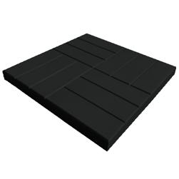 Тротуарная плитка 12 кирпичей, черная