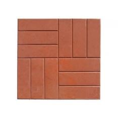 Тротуарная плитка 12 кирпичей, оранжевая