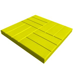 Тротуарная плитка 12 кирпичей, желтая
