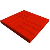 Тротуарная плитка 12 кирпичей, красная